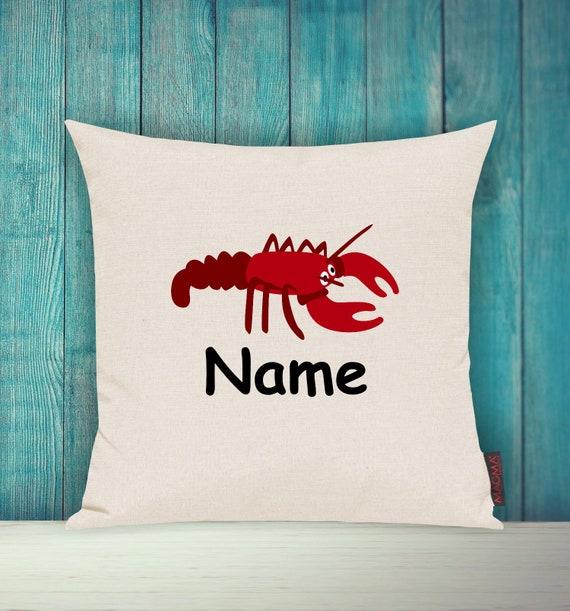 Kissenhülle Sofa Kissen Tiere Animal Krebs Krabbe Wunschname Deko Kinderzimmer Geschenk Tiere Natur Füchse Wald
