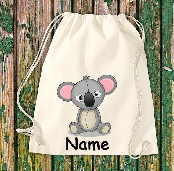 Gym bag Children's motif Koala with desired name Children Bag Backpack Sports bag Kita Hort Enrollment Sports bag Laundry