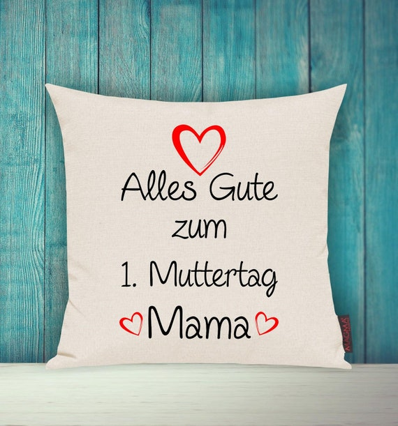 """Cushion Cover Sofa Pillow """"Happy 1st Mother's Day Mom"""" Sofa Pillow Deco Couch Pillow Pillow"""