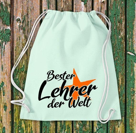 Gym bag best teacher in the world gift to teacher cotton