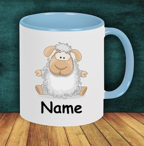 Children Cup Drinking Cup Schoolchild Sheep with Desired Name Enrollment Kita Hort Birthday School Teacup