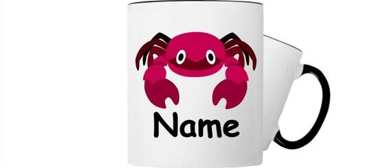 Kinder Tasse Trink Becher Krebs mit Wunschnamen