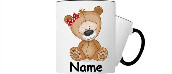 Kinder Tasse Trink Becher Teddy Bär mit Wunschnamen