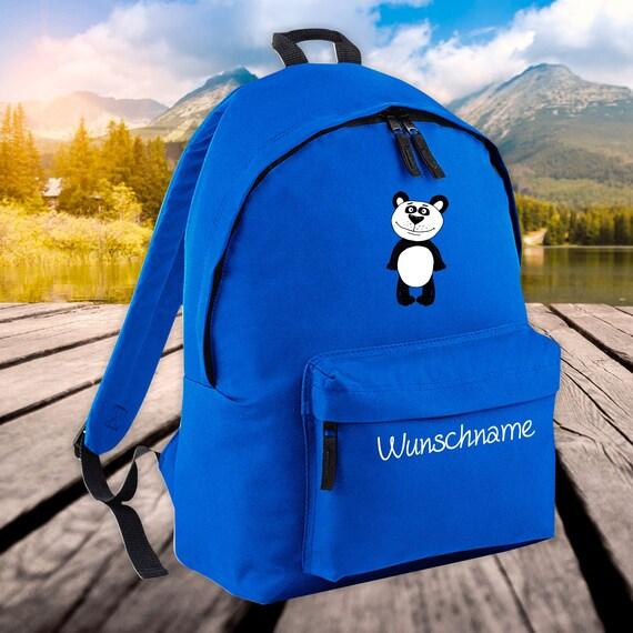 Children's Backpack Animals Panda Bear with Wish Name Wish Text Kita