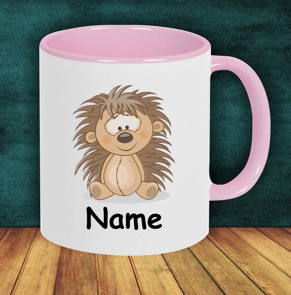 Kids Cup Drinking Mug Hedgehog with Wish Names