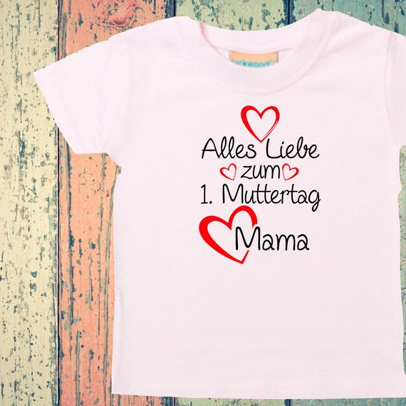 Baby Kids T-Shirt All Love for 1st Mother's Day Mom Gift Birth Momday