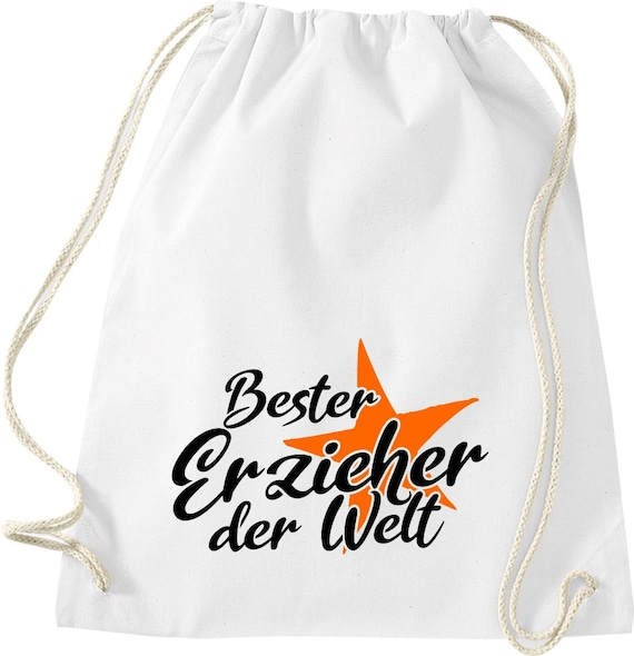 Gym bag best educator in the world gift to educator cotton