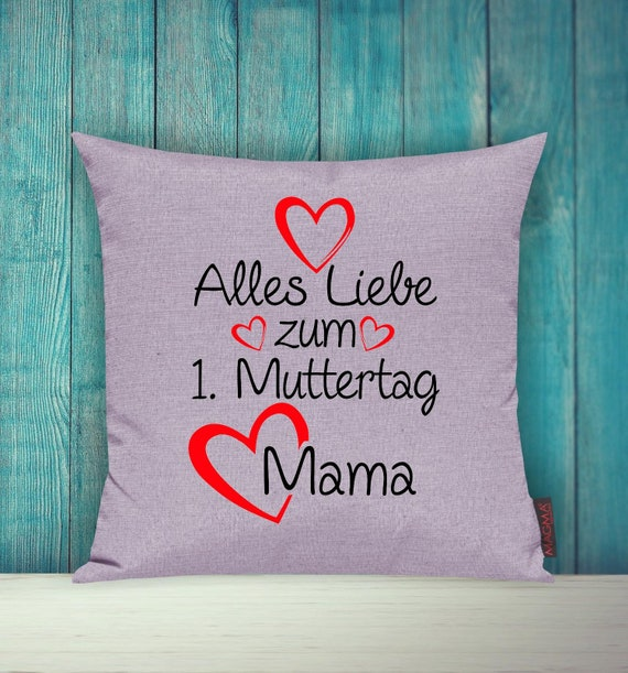 """Cushion Cover Sofa Pillow """"All Love for 1st Mother's Day Mom"""" Sofa Pillow Decoration Couch Pillow Pillow"""
