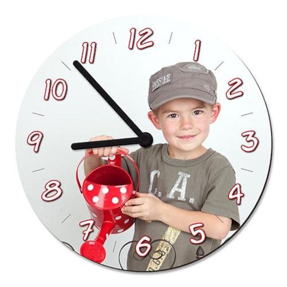 Foto Uhr Rund mit deinem Foto fürs Kinderzimmer Uhr Lernen Kinder