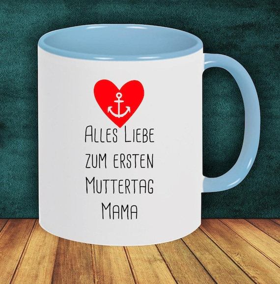 "Coffee Pot ""All Love for First Mother's Day Mom"" Cup Coffee Cup Teacup Gift Mug"