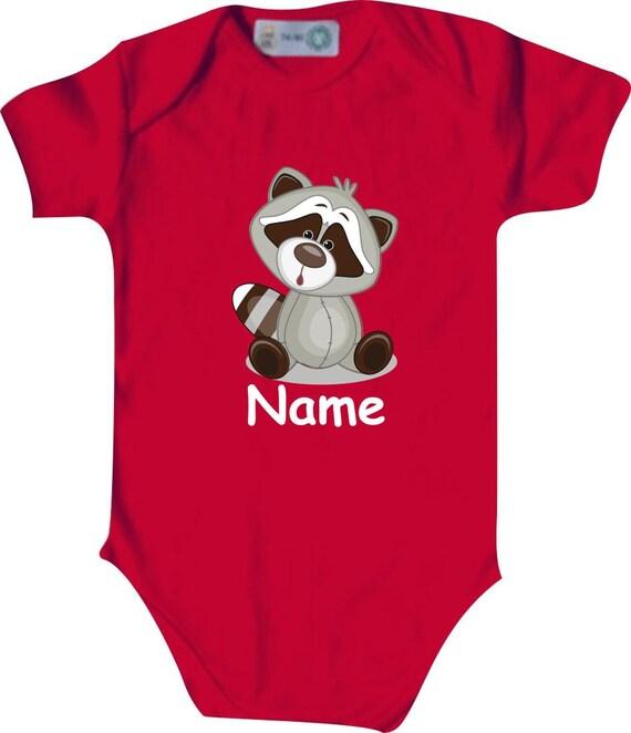 Baby body body romper with cute animals and wishful gift handmade
