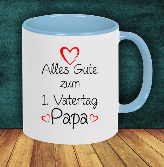 """Coffee Pot """"All The Happy Father's Day Dad"""" Cup Coffee Cup Teacup Gift Mug"""