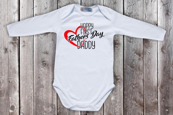 Baby Bodybody BabyBody Long Sleeve Happy First Fathers Day Daddy