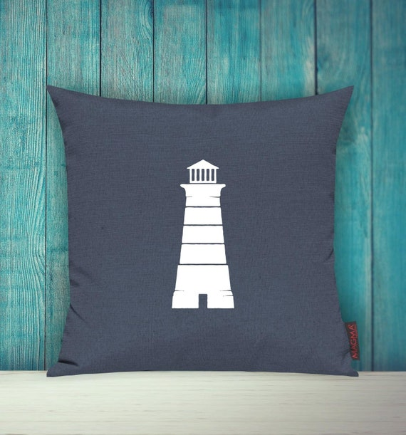 Cushion Covers Deco Pillow Sailing LEUCHTTURM Pillow Cuddle Holiday Sea Sea North Sea Beach