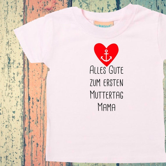 Baby Kids T-Shirt Happy First Mother's Day Mom Gift Birth Father's Day