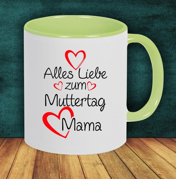"Coffee Pot ""All Love to Mother's Day Mom"" Cup Coffee Cup Teacup Gift Mug"