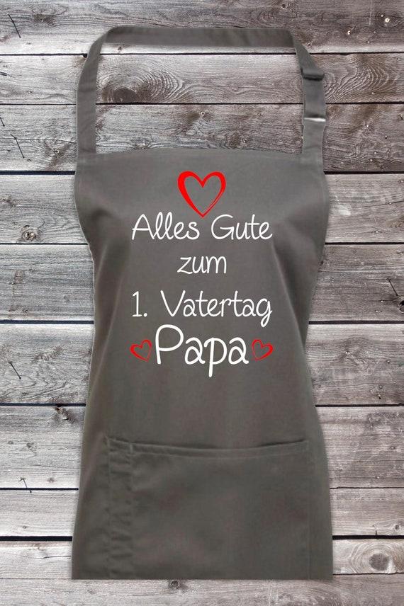 """Koch Backschürze """"Alles Gute zum 1. Vatertag Papa"""" Grillen Grillschürze Schürze Heimwerker Garten Latzschürze"""
