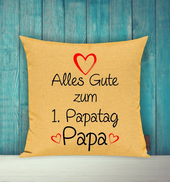 """Cushion Cover Sofa Pillow """"Happy 1st Dad's Day Dad"""" Sofa Pillow Deco Couch Pillow Pillow"""