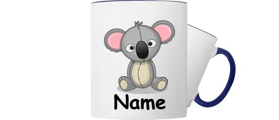 Kinder Tasse Trink Becher Koala mit Wunschnamen
