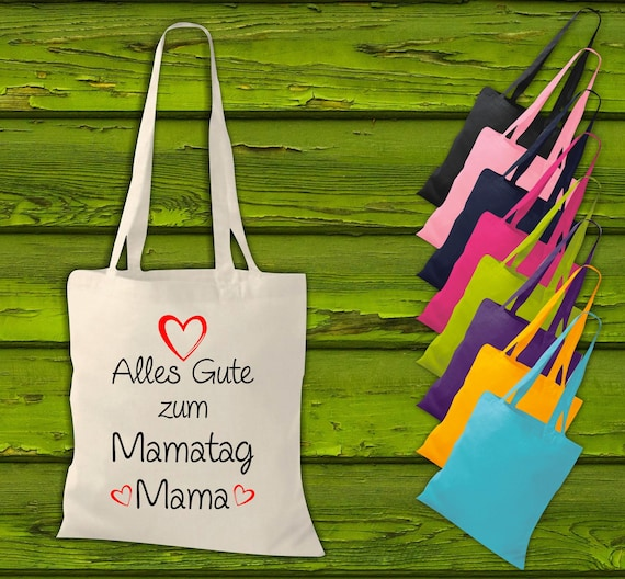 """shirtinstyle fabric bag """"Happy to mommy mommy"""" jute cotton bag shopping bag gift idea"""