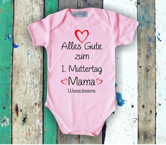 Baby BodyBody Babybody Happy 1st Mother's Day with Wish Name Text Mom Mom