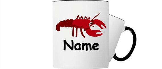 Kinder Tasse Trink Becher Hummer mit Wunschnamen