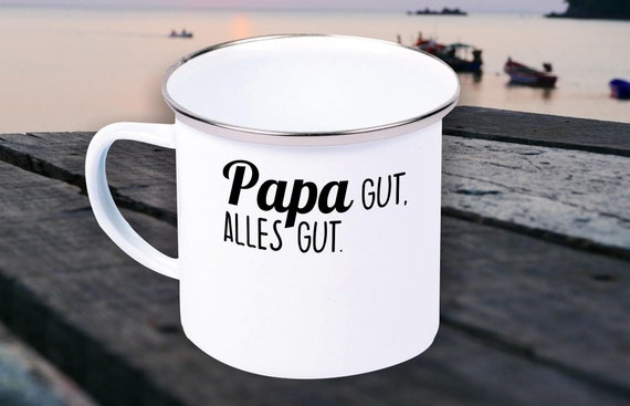 Enamel mug cup mom, dad, grandpa and granny good. All Good Gifts for The Love Family Coffee Tea