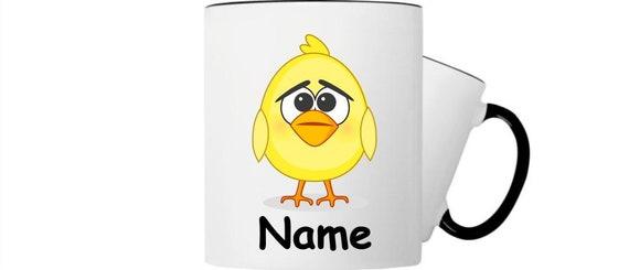 Kinder Tasse Trink Becher Küken Huhn mit Wunschnamen