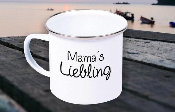 """Enamel Mug """"Mamas Darling"""" Cup Coffee Mug Mug Retro"""
