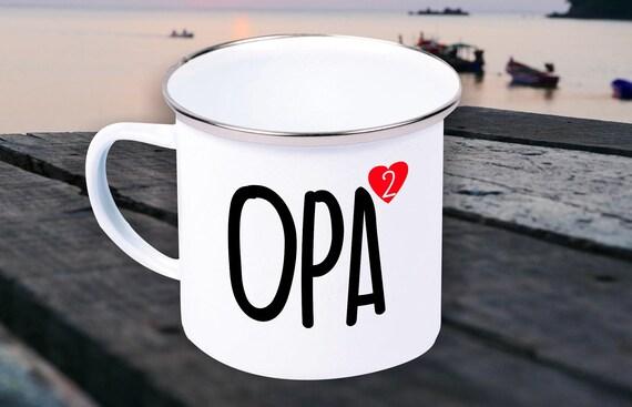 Enamel Mug Mug Grandma Grandpa High 2, 3, 4 or 5 Gifts for The Love Family Coffee Tea