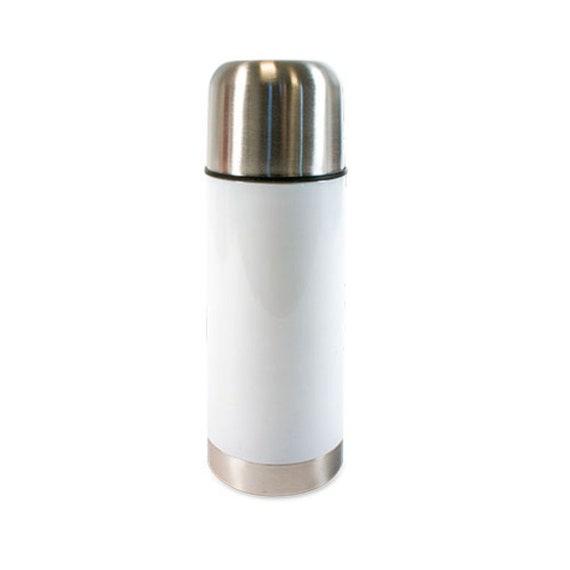Thermoflasche aus Edelstahl mit Foto o. Logo