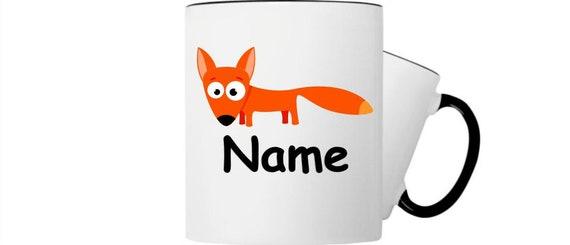 Kinder Tasse Trink Becher Fuchs mit Wunschnamen