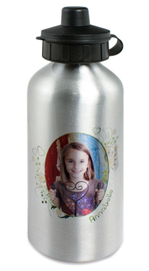 Aluminium drinking bottle enchanted with your photo