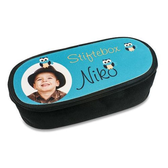 Pen box with photo for school enrolment