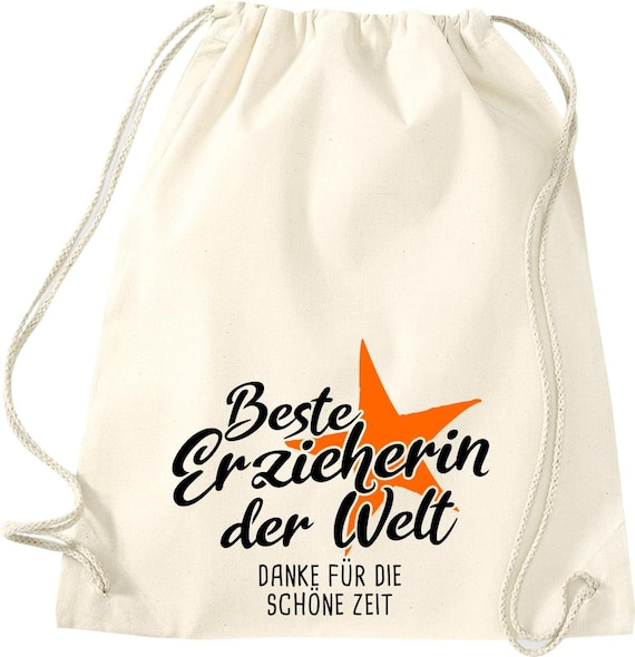 Gym bag best educator in the world thanks for the beautiful time gift to educators cotton