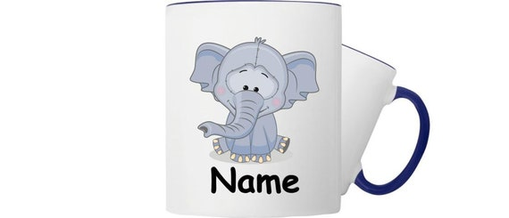 Kinder Tasse Trink Becher Elefant mit Wunschnamen