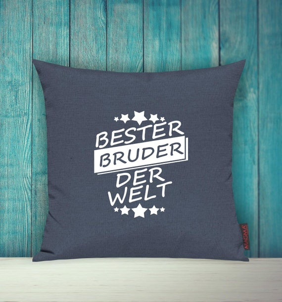Cushion Covers Deco Pillow Best Brother of the World Decoration Pillow Cuddly Pillow Sibling