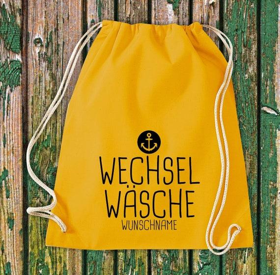Gym bag Sports bag Change of wash Anchor with desired text Kita Hort School Cotton Gym bag Bag Bag Bag