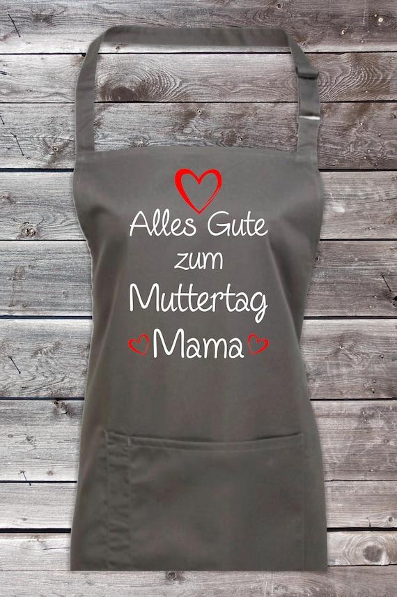 """Koch Backschürze """"Alles Gute zum Muttertag Mama"""" Grillen Grillschürze Schürze Heimwerker Garten Latzschürze"""