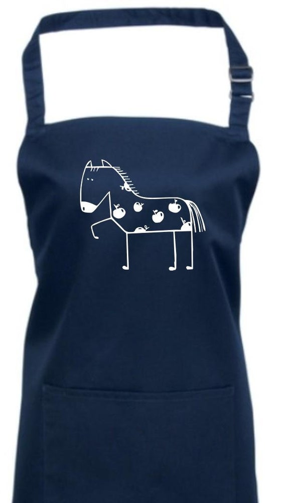 Cook back apron funny Animals horse Pony