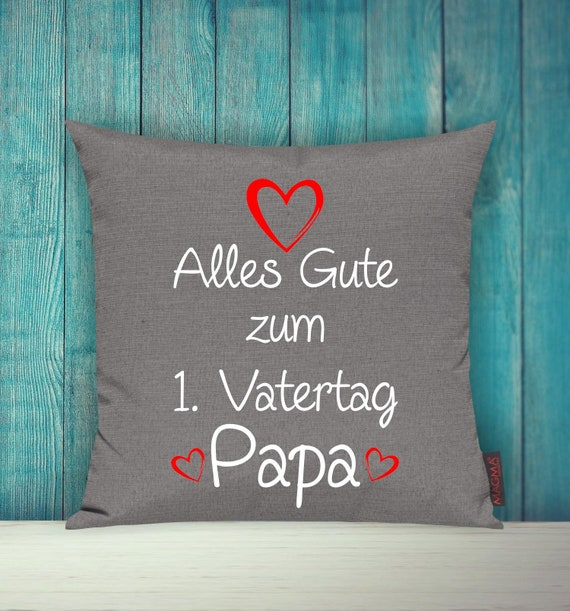 """Cushion Cover Sofa Pillow """"Happy 1st Father's Day Dad"""" Sofa Pillow Deco Couch Pillow Pillow"""