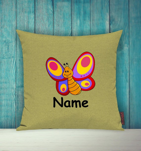 Kissenhülle Sofa Kissen Tiere Animal Schmetterling Wunschname Deko Kinderzimmer Geschenk Tiere Natur Füchse Wald