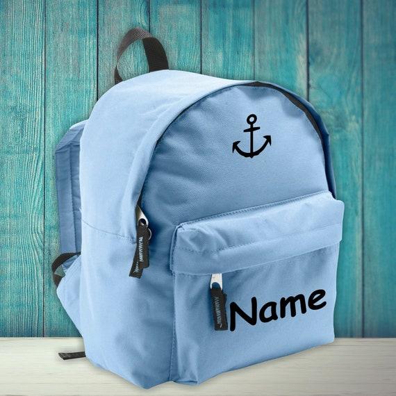 Children Backpack Anchor Family with desired name Kita Einschulung Hort Kindergarten