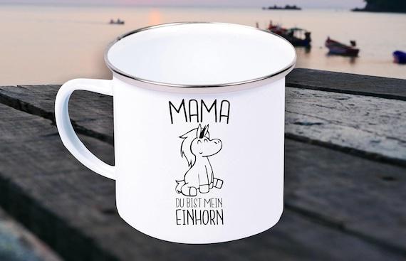"Enamel Mug ""Mom You're My Unicorn Mother's Day Mommy Mum"" Cup Coffee Mug Mug Retro"