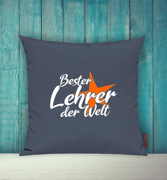 "Cushion Cover Sofa Pillow ""Best Teacher in the World"" Sofa Pillow Decoration Couch Cuddly Pillow"