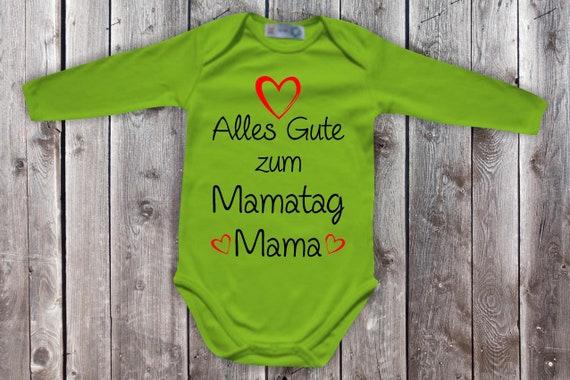 Baby Body Langarm  Babybody Alles gute zum Mamatag Geschenk Longsleeve