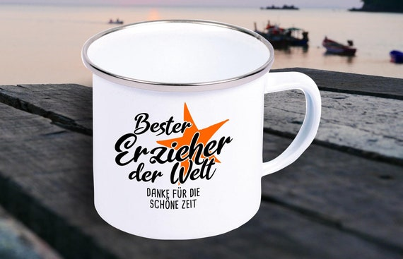 Enamel mug cup gift to teachers, educators, school/ daycare