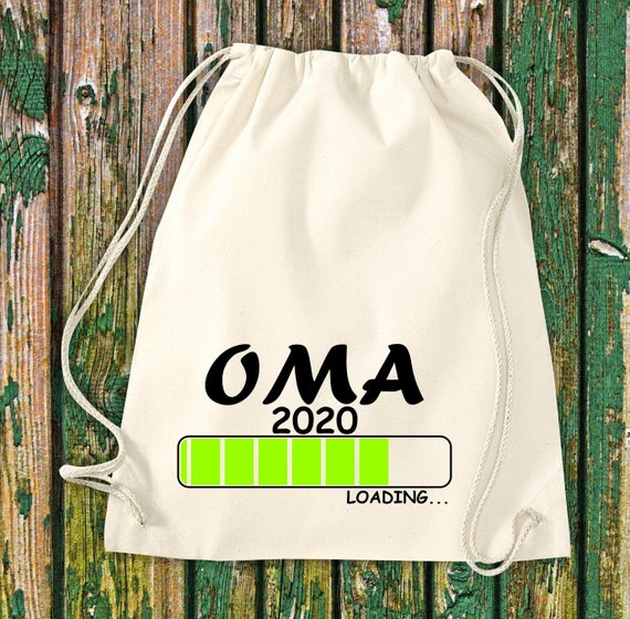 Gymsack Loading Grandma 2020 Jute Backpack Birth Sports Bag