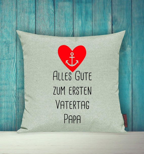"""Cushion Cover Sofa Pillow """"Happy First Father's Day Dad"""" Sofa Pillow Deco Couch Pillow Pillow"""
