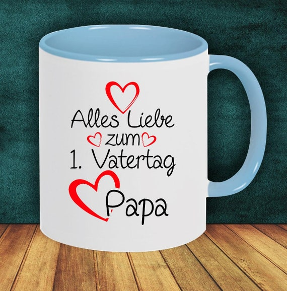 "Coffee Pot ""All Love for 1st Father's Day Dad"" Cup Coffee Cup Teacup Gift Mug"